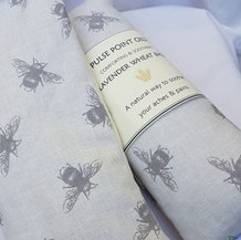 Lavender wheat bags from Pulse Point Oils foe wellness, wellbing and sofa snuggles. Selfcare calming aches and pains naturally. lavender eye pillows and sleep masks for restful slumber and medittion